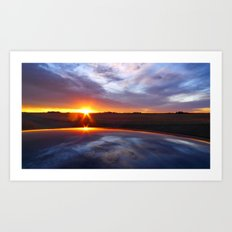 'Prarie Sunrise' Art Print