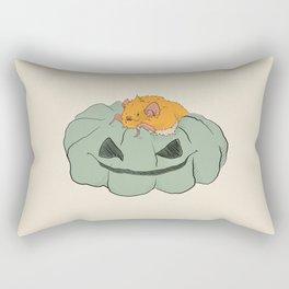 Little bat on a pumpkin Rectangular Pillow