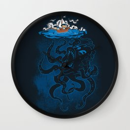 Here There Be Monster Wall Clock