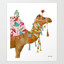 Happy Camel Art Print