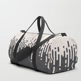 Marble and Geometric Diamond Drips, in Charcoal Grey and Light Beige Duffle Bag