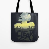 clear Tote Bags featuring CLEAR by Kidney Theft