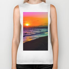 Rainbow Sunset Biker Tank