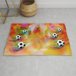 Football soccer sports graphic design Rug
