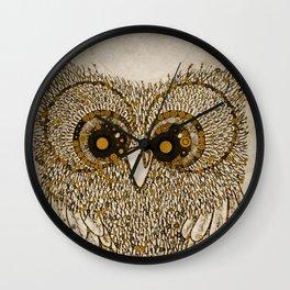Golden Circle Owl Wall Clock