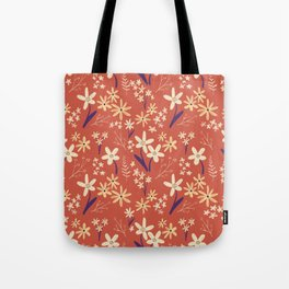 Chalky Floral Pattern Tote Bag