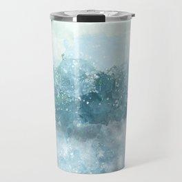 Choppy Blue Ocean Water Travel Mug