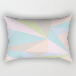 Pastel Triangles Rectangular Pillow