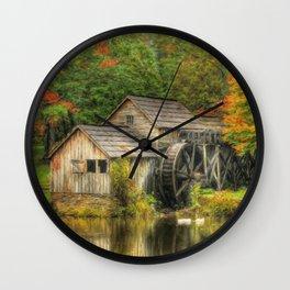 A Mabry Mill Autumn Wall Clock