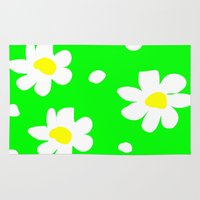 daisies Area & Throw Rugs featuring Daisies by Vitta