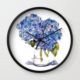 Hydrangea painting Wall Clock