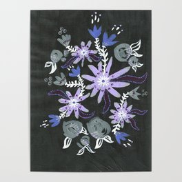 Nocturne Blooms Poster