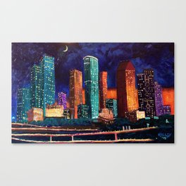 Expression Houston Canvas Print