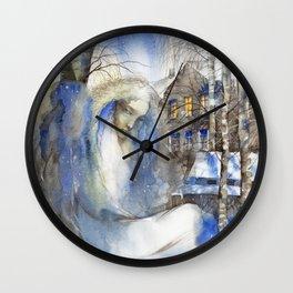 Winter melancholia Wall Clock