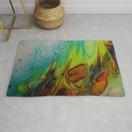 Neon Burn - Abstract Acrylic Art by Fluid Nature Rug