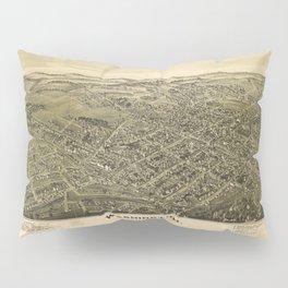 Aerial View of Washington, Pennsylvania (1897) Pillow Sham