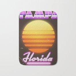 Tampa Florida 1980s travel poster Bath Mat