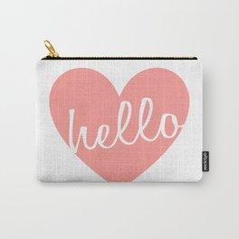 Hello Heart Wall Art #5 Pink Heart Carry-All Pouch
