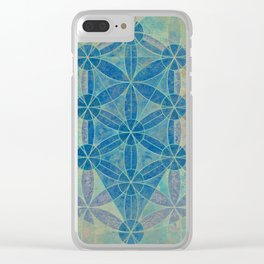 Flower of life Clear iPhone Case