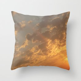 Sun in a corner Throw Pillow