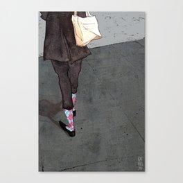 Argyle Socks by Kat Mills Canvas Print