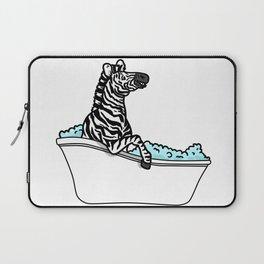 Bathtub zebra Laptop Sleeve
