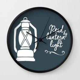 Read By Latern Light - Green Wall Clock