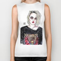 sky ferreira Biker Tanks featuring SKY FERREIRA NO,17 by Lucas David
