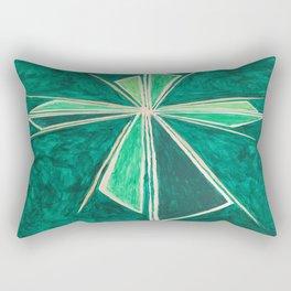 Green Cross Rectangular Pillow