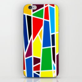 Geometric Shapes - bold and bright iPhone Skin