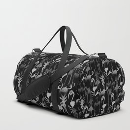 greyscale jungle tribe Duffle Bag