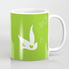 Wings of Love - Green Coffee Mug