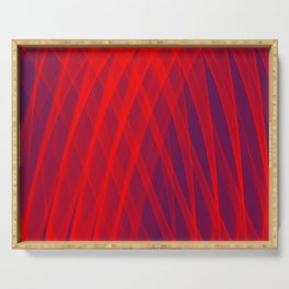 Red Blue Abstraction Serving Tray