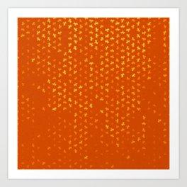 capricorn zodiac sign pattern yo Art Print