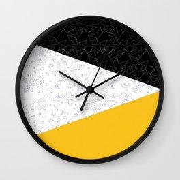 Black yellow white flap Wall Clock