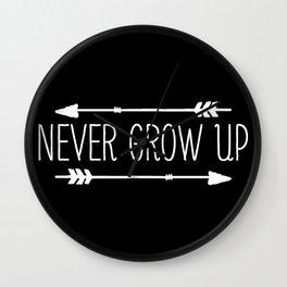 Never Grow Up Wall Clock