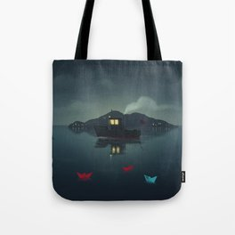 Ships In The Night Tote Bag