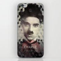 charlie chaplin iPhone & iPod Skins featuring Charlie Chaplin by Mahdi Chowdhury