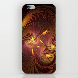 Coming Home, Abstract Fantasy Fractal Art iPhone Skin