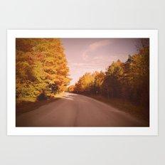 Autumn Road Art Print