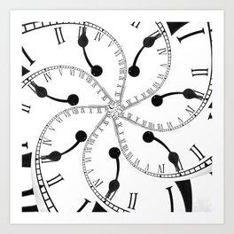 Clock Flower Art Print