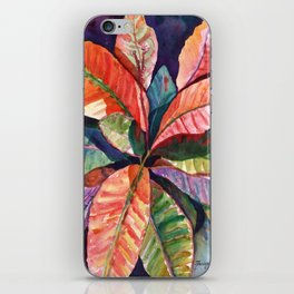 Colorful Tropical Leaves 1 iPhone Skin