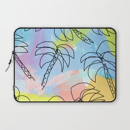 Live This Moment no.1 - illustration palm tree pattern summer tropical beach California pastel color Laptop Sleeve