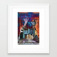 breaking Framed Art Prints featuring BREAKING WALLS  by CAPTAINSILVA