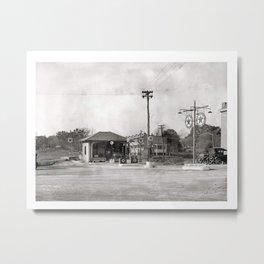 Texaco Service Station Vintage Photo Metal Print