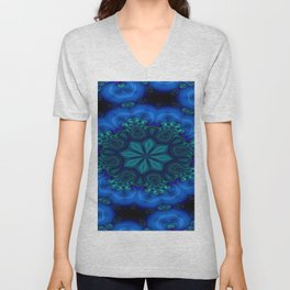Battling At The Chasm Mandala 6 Unisex V-Neck