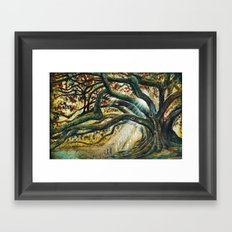 Earth & heaven meeting  Framed Art Print