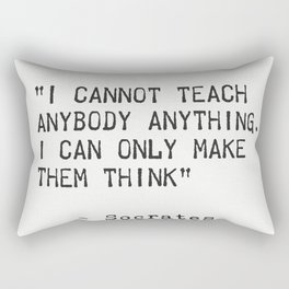 SOCRATES quote 5 Rectangular Pillow