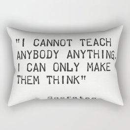 SOCRATES quote 5 Rectangular Pillow