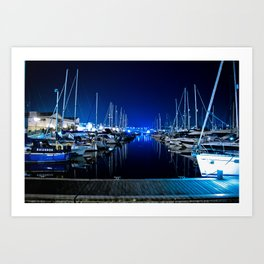 Blue Harbour Art Print